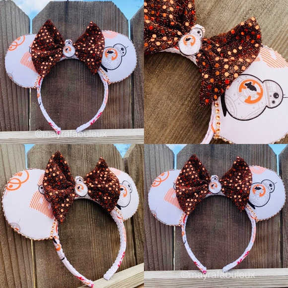 mayrafabuleux Accessories - Star Wars BB-8 Minnie Ears,Mouse Ears, Bb8